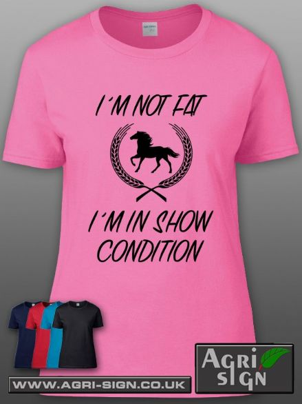 Womens Premium T Shirt - Im Not Fat Im In Show Condition